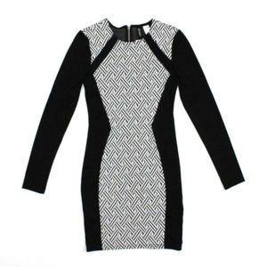 Divided By H&M Black/White Bodycon Dress Stretch 4